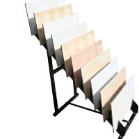 瓷砖展示架瓷砖样品展架陈列架不锈钢木地板石材地砖瓷砖陶瓷货架子 8片展示升级版
