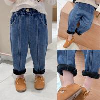 童装儿童牛仔裤冬装新款男童洋气保暖长裤裤子