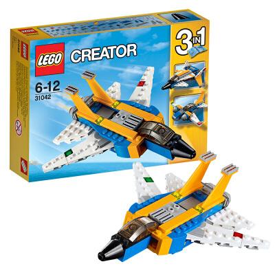 [当当自营]LEGO 乐高 Creator创意百变系列 超级滑翔机 积木拼插儿童益智玩具31042【当当自营】适合6-12岁,100pcs小颗粒积木