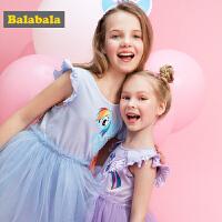 【小马宝莉IP款】巴拉巴拉女童连衣裙夏装2018新款儿童公主蓬蓬裙