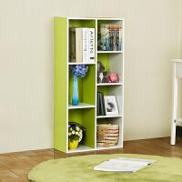 【当当自营】阿栗坞 七格收纳柜 储物柜 柜子 书柜书架 置物柜 绿色+白色 1002-1