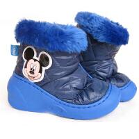 迪士尼米奇儿童短靴冬加厚保暖雪地靴女童男童家居鞋13810