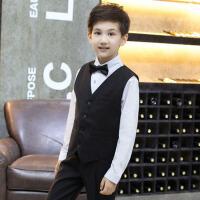 儿童小西装夏礼服男童马甲套装校园演出服韩版花童礼服钢琴主持人