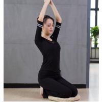 健身运动瑜伽服套装女中长袖愈加服 显瘦瑜珈舞蹈运动健身服