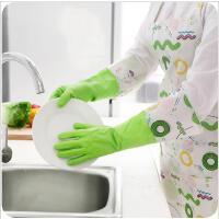 厨房家务防水耐用加绒洗碗手套冬季加厚洗衣服加长PVC手套