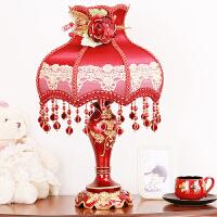 结婚台灯婚房床头灯婚庆结婚灯创意浪漫红色长明灯卧室温馨结婚灯 红色