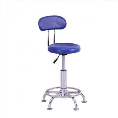 【品牌热卖】书房家具电脑椅家用现代简约酒吧椅升降椅子 美容凳子 旋转 蓝色靠背脚垫
