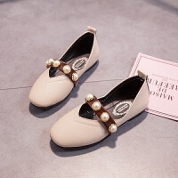 女童皮鞋儿童软底童鞋珍珠单鞋中大童公主鞋豆豆鞋