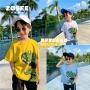 【2件2折】左西童装男童短袖T恤儿童纯棉恐龙半袖上衣中大童夏装2021新款潮
