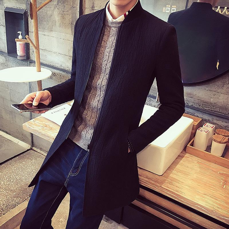 男青年中长款风衣韩版修身潮大衣外套夹克秋冬装 一般在付款后3-90天左右发货,具体发货时间请以与客服协商的时间为准