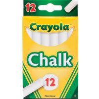 儿童节礼物益智玩具Crayola绘儿乐 无尘彩色白色粉笔学生教学黑板用绘画书写笔 男孩女孩 12支白色粉笔