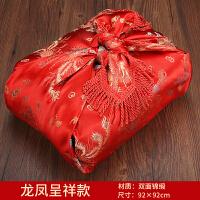 婚嫁用品包袱 婚庆红布喜盆婚礼包裹布新娘陪嫁用品大号包袱皮结婚红包袱
