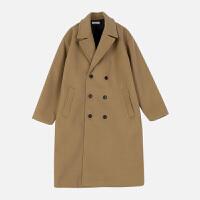 冬季羊毛呢子大衣男商务休闲韩版男士毛呢风衣中长款毛呢外套 S (单里衬)