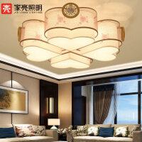 新中式led吸顶灯复古客厅灯现代简约卧室书房灯圆形灯具MX99