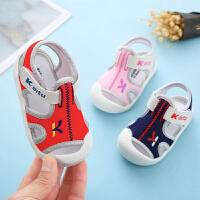 女宝宝凉鞋夏季新款0-1-3岁2男童防滑软底不掉学步透气婴儿凉鞋
