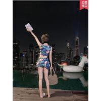 泡温泉泳衣女新款性感聚拢分体裙式小香风韩国高腰显瘦游泳衣