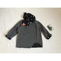 福利款~儿童中性款套头卫衣+围巾 男女童宝宝婴幼儿插肩袖长袖衫