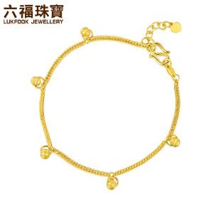 六福珠宝转运珠黄金手链女足金肖邦链* B01TBGB0018