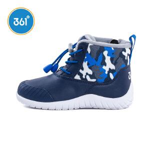 【全场折后每满100-50】361度童鞋 男童棉鞋冬季新款加厚加绒儿童靴子K71744660