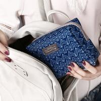 可爱化妆包收纳包女便携随身化妆品袋迷你手拿小方包简约时尚
