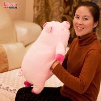 公仔奇布娃娃玩偶可爱生日礼物女生抱枕粉红软趴猪毛绒玩具小猪佩