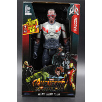 声光版12寸复仇者联盟2钢铁侠绿巨人美国队长黑豹蜘蛛侠人偶玩具