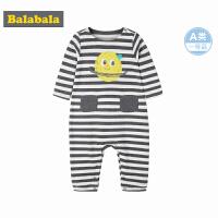 巴拉巴拉新生儿婴儿连体衣哈衣宝宝包屁衣秋装男纯棉长袖女孩上衣