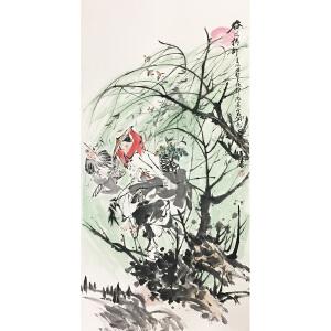 王涛《春风杨柳》著名画家