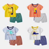 婴儿休闲套装两件套男婴幼儿短袖上衣宝宝衣服夏装