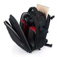 小型双肩摄影包适用尼康男女单反相机包轻便休闲防水 黑色