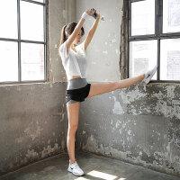 瑜伽服运动套装女夏跑步短裤假两件显瘦速干网纱文胸孕妇
