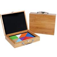 木质儿童益智七巧板智力拼图 早教玩具立体拼图宝宝