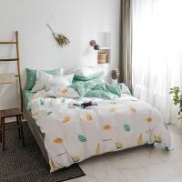 床上三件套1.2m床上用品少女可爱韩式棉床单被套床笠四件套