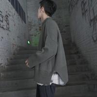 冬季新款复古加厚圆领毛衣男士韩版青年宽松打底针织衫学生线衣潮