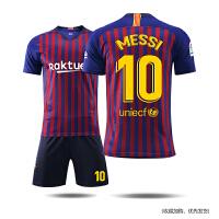巴萨球衣 18-19梅西10号足球服套装男定制巴塞罗那队服训练服