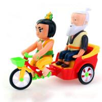 儿童早教金刚葫芦娃骑三轮车玩具车音乐灯光宝宝男孩女孩启蒙玩具 葫芦娃三轮车