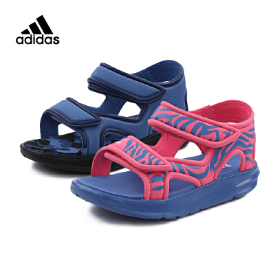 阿迪达斯Adidas童鞋18新款凉鞋男女童夏季儿童迷彩耐磨沙滩鞋 (5-10岁可选)