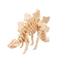 3d立体拼图玩具恐龙模型木质拼插恐龙木质模型立体拼图玩具霸王龙
