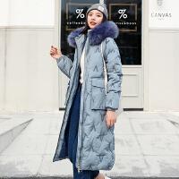 【极速发货 超低价格】棉服女冬中长款2020年新款韩版宽松棉袄港风东大门棉衣外套潮