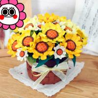 仿真花束盆栽摆件 不织布艺手工diy 制作 成人创意材料包