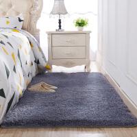 ins地毯卧室满铺客厅茶几垫子可爱毛绒床边床前儿童房爬行垫灰色SN7454 银灰色 长毛