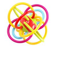 曼哈顿球牙胶摇铃玩具婴幼儿0-1-3-6-8个月岁婴儿宝宝手抓球