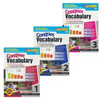 SAP Conquer Vocabulary 1-3年级攻克词汇系列3册练习册套装 7-9岁 新加坡小学英语 新亚出版