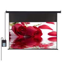 电动升降幕布 高清家用投影机投影仪幕布 72-150英寸 白塑幕布 白玻纤幕布 玻珠幕布