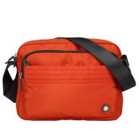 单肩包女包布休闲包男斜挎包运动包女旅游旅行小包手机包 橘色