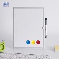 西景细铝小白板磁性家用留言板写字板桌面迷你白板支架式办公屏风
