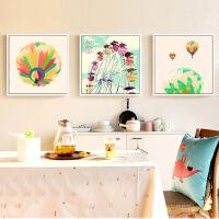物有物语 数字油画 美式热气球欧美创意风景数字油画 酒吧客厅沙发背景墙挂画