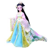 儿童古装白浅花千骨芭芘比娃娃衣服女童女孩古代公主玩具单个