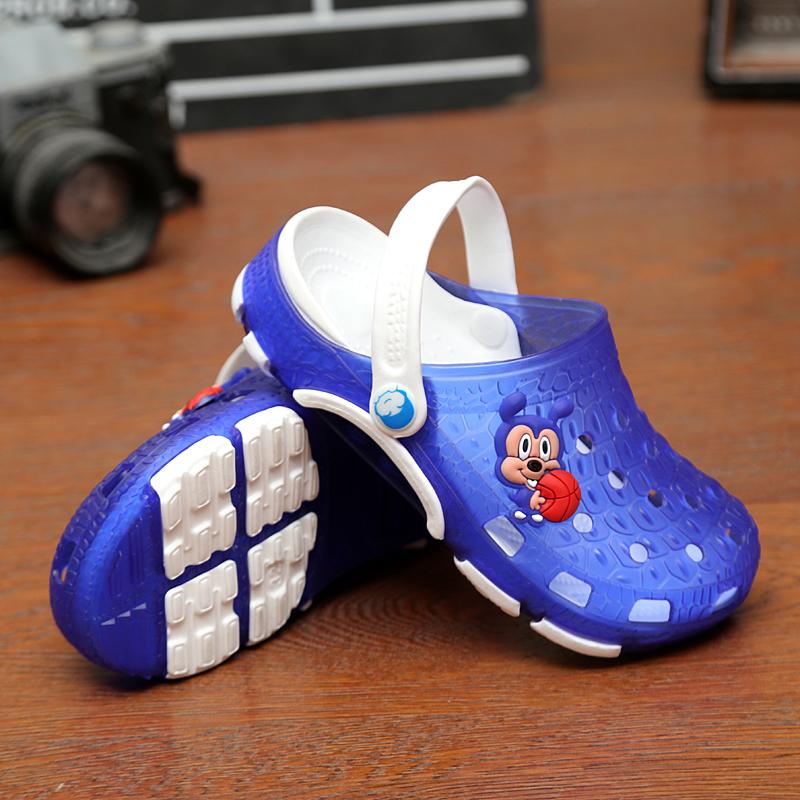 儿童男童沙滩鞋女童凉拖鞋2019夏季小孩宝宝浴室鞋软底防滑