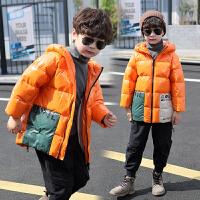 儿童装男童冬装棉衣外套中长款羽绒